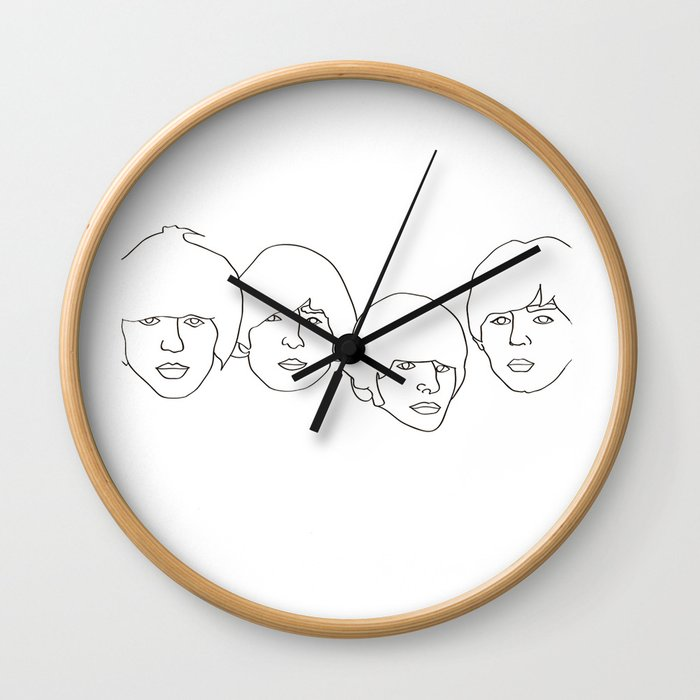 GeorgeJohnRingoPaul Wall Clock