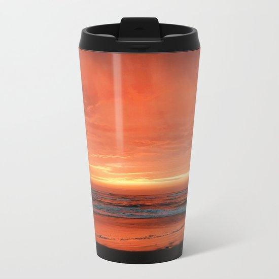 Ocean Waves #sunset Metal Travel Mug