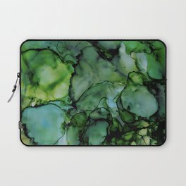 Midnight Green Alcohol Ink Laptop Sleeve