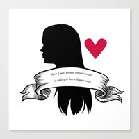 lydia martin Canvas Prints featuring Lydia Martin by smartypants