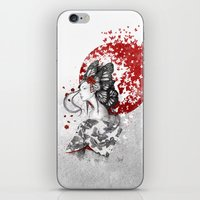 butterfly iPhone & iPod Skins featuring Madame Butterfly by Marine Loup