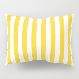 Large Taxi Yellow and White Cabana Stripe Pillow Sham