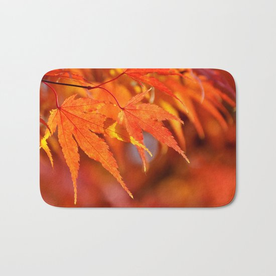 OH SO PRETTY - FALL LEAVES Bath Mat