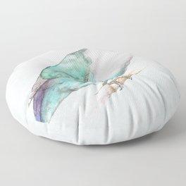 Pale blue lovebird Floor Pillow