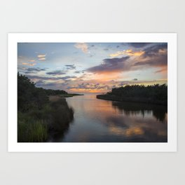 Sound Side Sunset Art Print