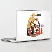captain silva Laptop & iPad Skins featuring Captain by Design4u Studio