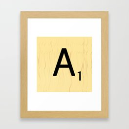 Scrabble A Decor, Scrabble Art Prints, Large Scrabble Prints, Word Wall Art, Home Decor, Wall Decor Framed Art Print