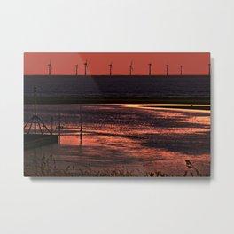 River Alt and the wind farm Metal Print