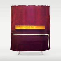 office Shower Curtains featuring office by Love Improchori