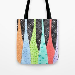 Six Hanging patterned sculptures Tote Bag
