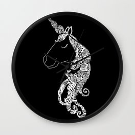 The Ivory Unicorn Wall Clock