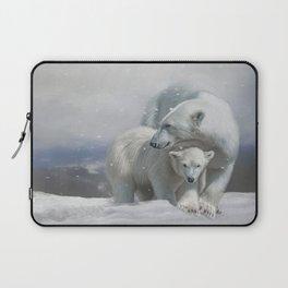 Polar Bear Family Laptop Sleeve