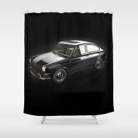 volkswagen Shower Curtains featuring Volkswagen 1600TL by AstroCat