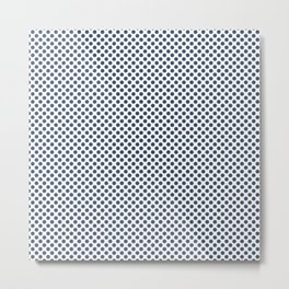 Ensign Blue Polka Dots Metal Print