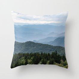 Smoky Mountain National Park -  Summer Adventure Throw Pillow
