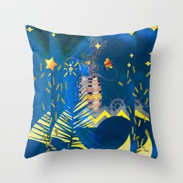 my boat Throw Pillow