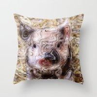 piglet Throw Pillows featuring scribbled Piglet by MehrFarbeimLeben