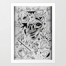 Worst flash ever made  Art Print