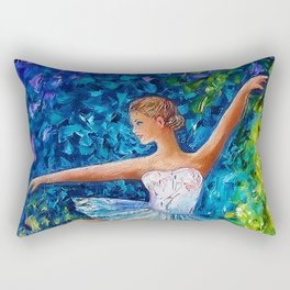 Dance In The Rain Of Color Rectangular Pillow