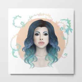 Mermaid Hair Metal Print