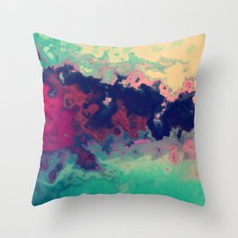 What am I painting? Throw Pillow
