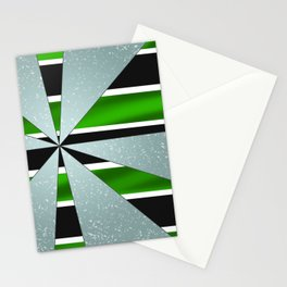 4Shades Glass: Green B/W Stationery Cards