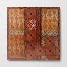 Vintage textile patches Metal Print