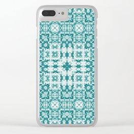 Aquatica Teal Kaleido Clear iPhone Case
