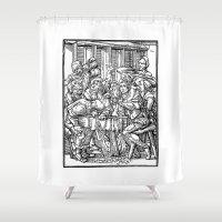 ale giorgini Shower Curtains featuring Ale + Quail by trompkins