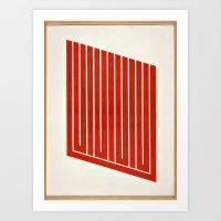 Geometric Orange 60s Photo Art Print