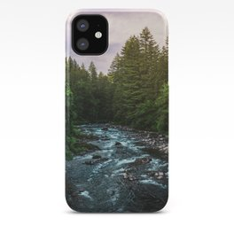 PNW River Run II - Pacific Northwest Nature Photography iPhone Case