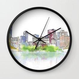 Pittsburgh Downtown Wall Clock