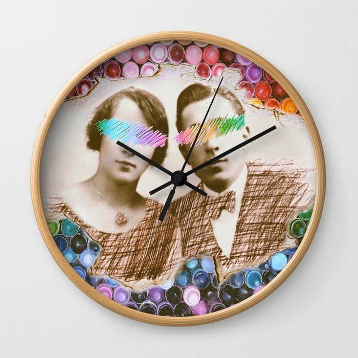 Coloring Around Us Wall Clock