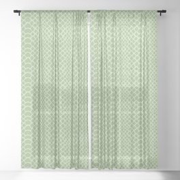 Snake Skin Pattern Sheer Curtain