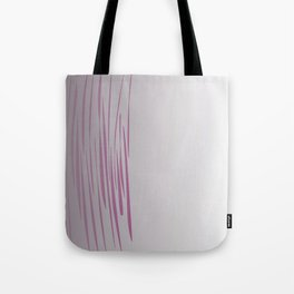 Wild ethnic lines pink grey Tote Bag