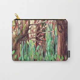Lost in the Forest - watercolor painting collage Carry-All Pouch