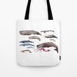 Deep sea whales Tote Bag