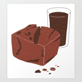 Double Chocolate Art Print