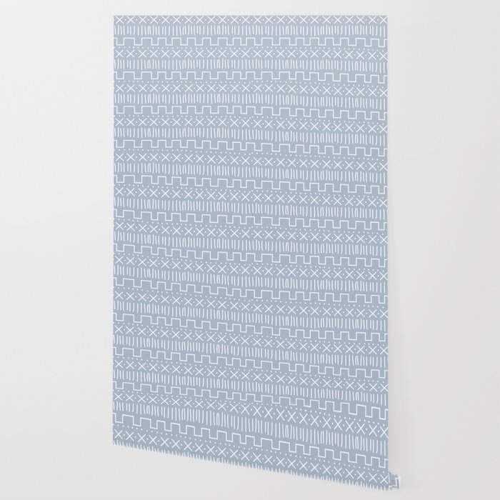 Powder Mud Cloth Wallpaper