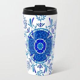 Leaf Mandala – Blue Palette Travel Mug