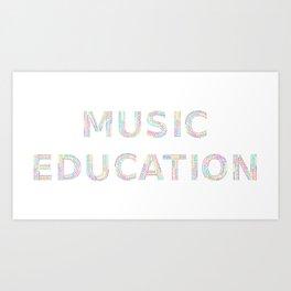 Music Education Art Print
