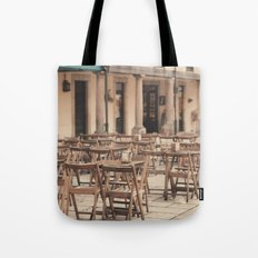 Tables and chairs Tote Bag