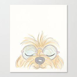 Woof You Groovy Dog Canvas Print