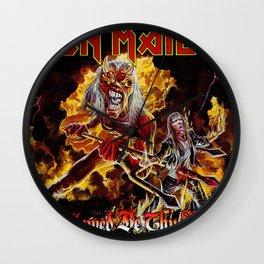 iron maiden album 2021 dede27 Wall Clock
