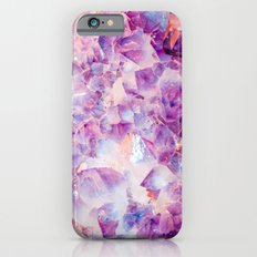 Amethyst Clusters, Amethyst, Crystal, Crystals, Purple, Gemstones, Gem, Gems, Rocks, Nature, Geode, iPhone 6 Slim Case