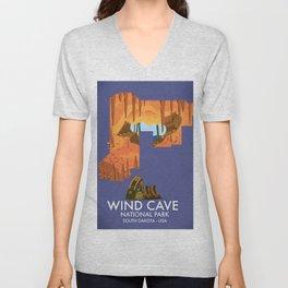 Wind Cave National Park Unisex V-Neck