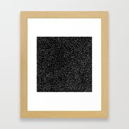 Dashed line drawn by pen Framed Art Print