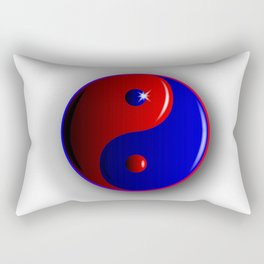 Red And Blue Yin and Yang Rectangular Pillow