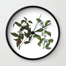 Caffeine Botanicals Wall Clock