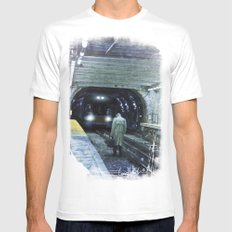 The Escape White MEDIUM Mens Fitted Tee
